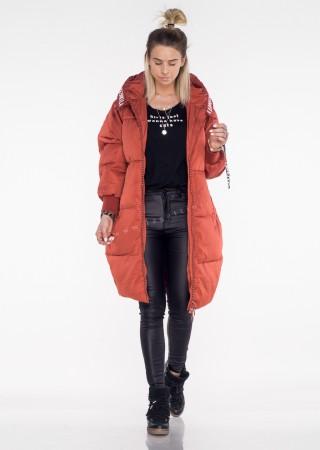 Włoski płaszcz LOVE LOVE różowy mat