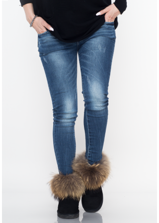 Buty śniegowce jenot futro czarne