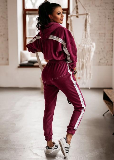Komplet bluza + spodnie OLV LINE śliwkowy