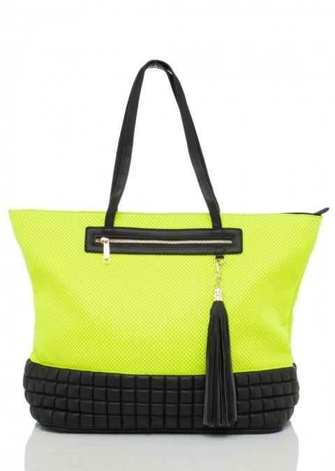f8cfbf3465267 Italy torebka fluo look neon odcienie limonki ...