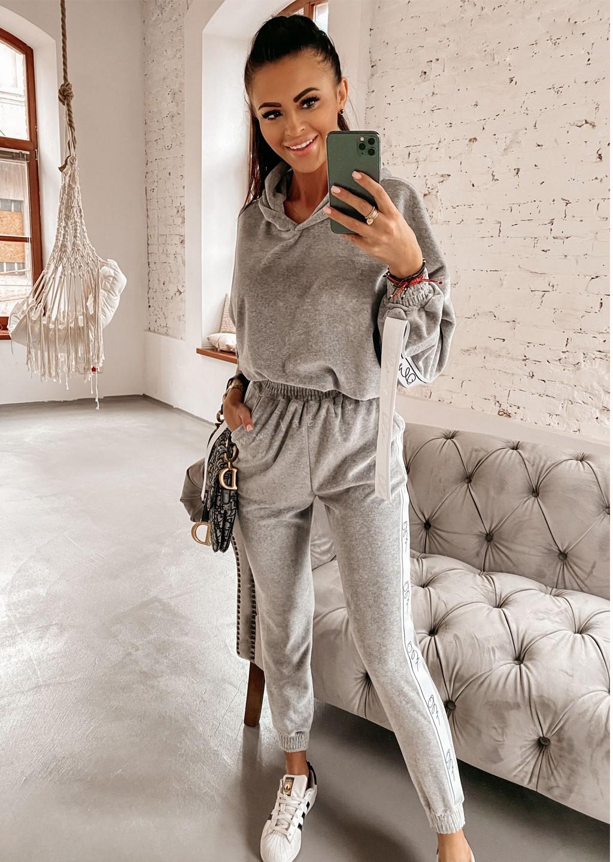 Komplet bluza + spodnie OLV LINE szary