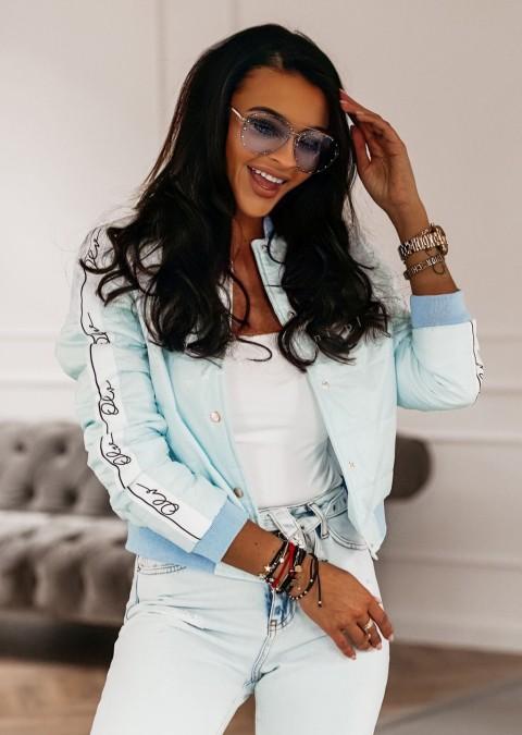 Kurtka O'la Voga Monaco pastelowy niebieski