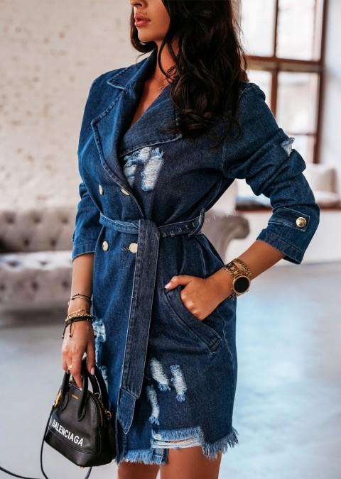 Sukienka BROOKLYN O'la Voga ciemny jeans