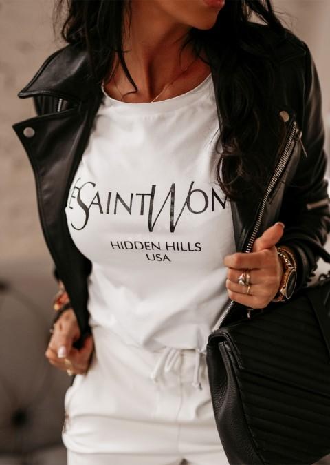 T-shirt YES O'la Voga biały