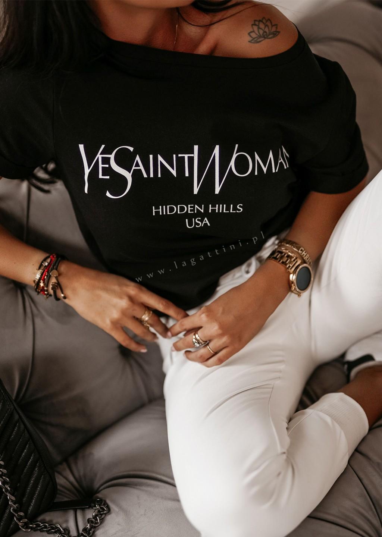 T-shirt YES O'la Voga czarny