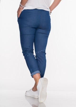 Włoskie spodnie SZNUREK denim