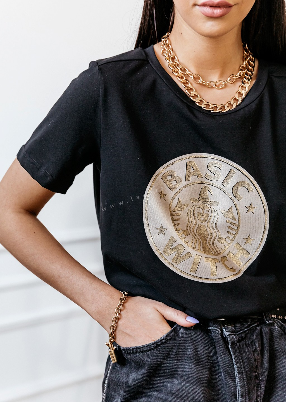 T-shirt Cocomore nadruk WITH biały