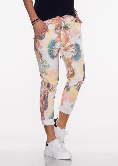 Włoskie spodnie BAGGY fluo look