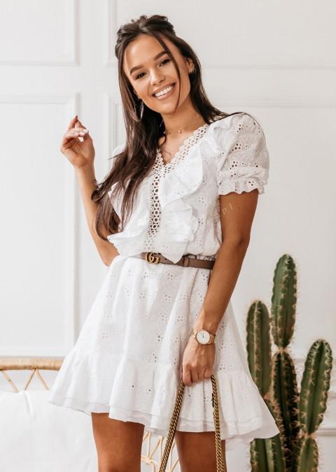 Koronkowa sukienka Cocomore biała