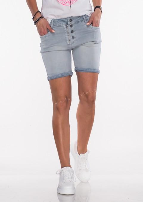 Włoskie szorty jeansowe GUZIKI denim