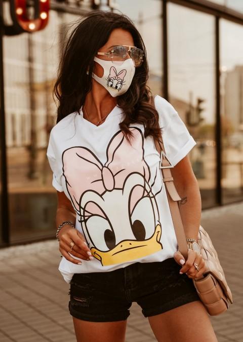 T-shirt DAISY O'la Voga biały