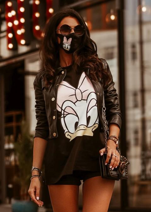 T-shirt DAISY O'la Voga czarny