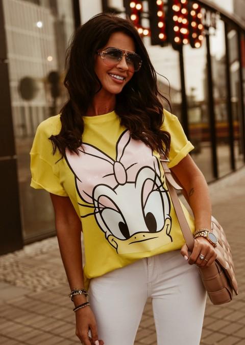T-shirt DAISY O'la Voga żółty