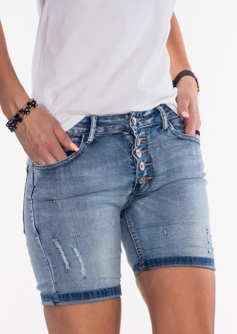 Włoskie szorty jeansowe by Veronica 2 guziki