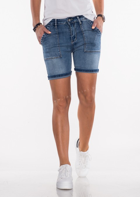 Włoskie jeansowe szorty by Veronica denim