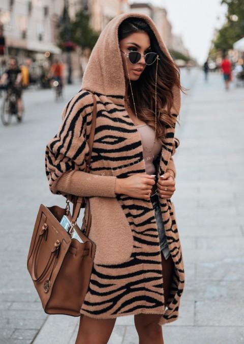 Płaszczyk Cocomore PREMIUM zebra karmelowy wzór 1