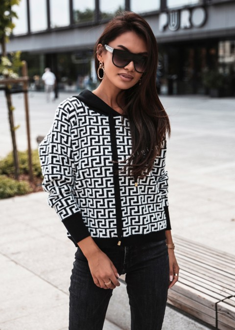 Sweterek COCOMORE Archi czarno-biały