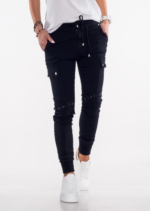 Włoskie jeansy Silver Buttons czarne