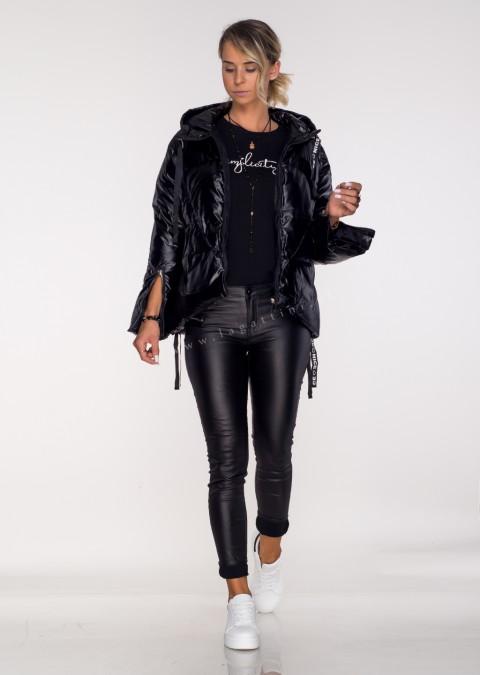 Pikowana kurtka Black Mirror czarna