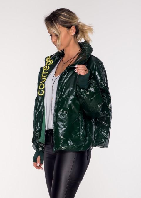 Pikowana kurtka COURREGES green
