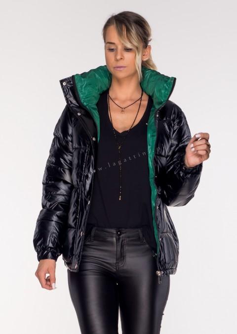 Pikowana kurtka BIDE Black&Green