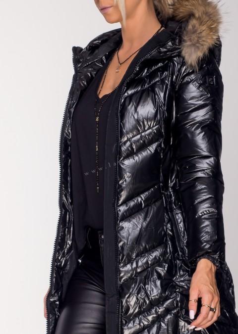 Pikowany płaszcz PREMIUM JENOT czarny