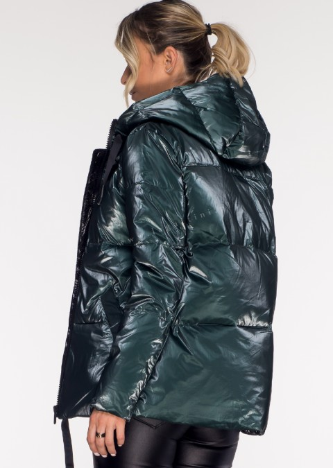 Włoska kurtka GLOSS green/black