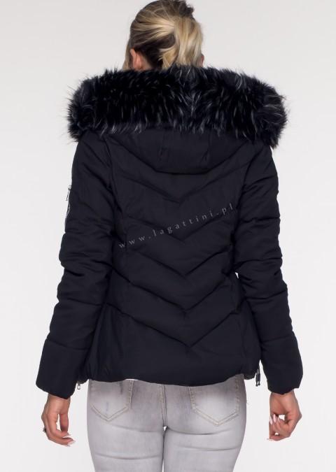 Włoska pikowana kurtka MONTE czarna