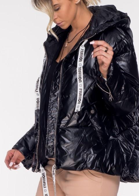 Pikowana kurtka Black Mirror 2 czarna