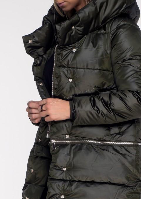 Włoski pikowany płaszczyk VALENTINA 3w1 khaki