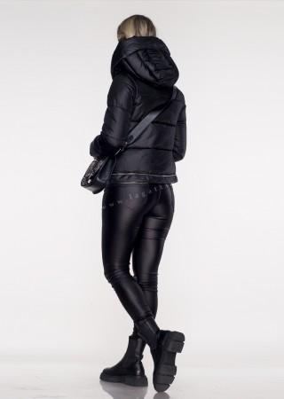 Włoski pikowany płaszczyk VALENTINA 3w1 czarny