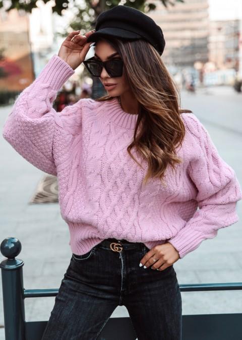 Sweterek COCOMORE LEA pastelowy róż
