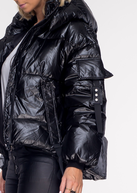 Włoska pikowana kurtka VENTO 2w1 panna cotta