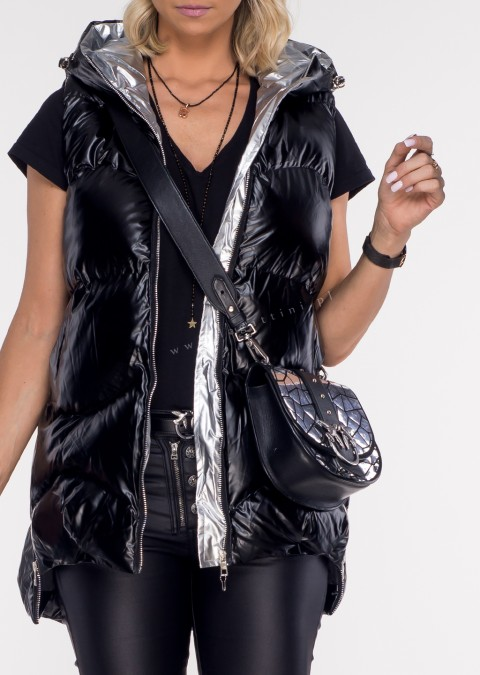 Włoska pikowana kamizelka LAMORE black