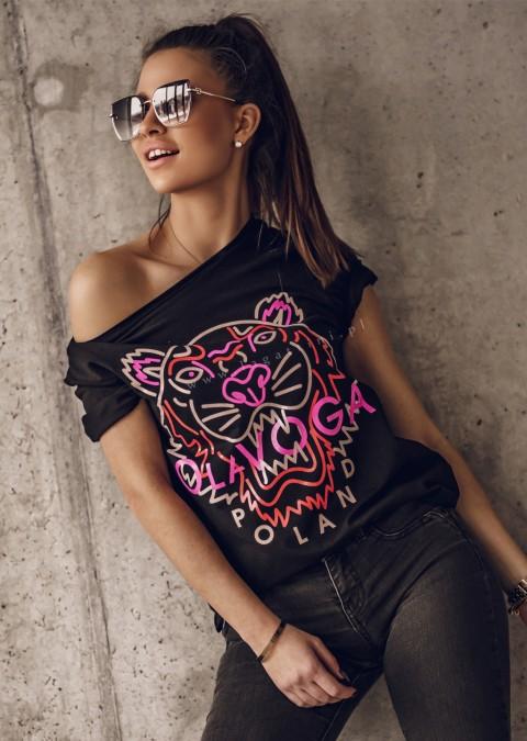 T-shirt O'la Voga TIGER czarny