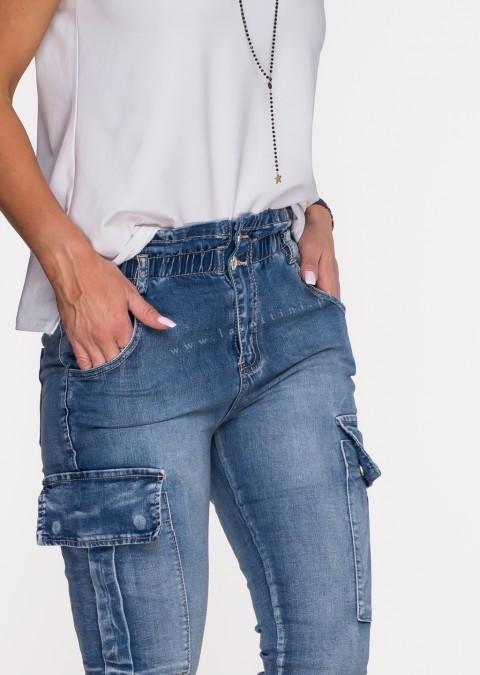 Włoskie jeansy WENDY blue jeans 600