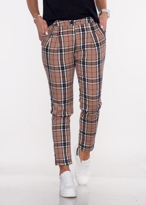 Włoskie spodnie by VERONICA beige/black