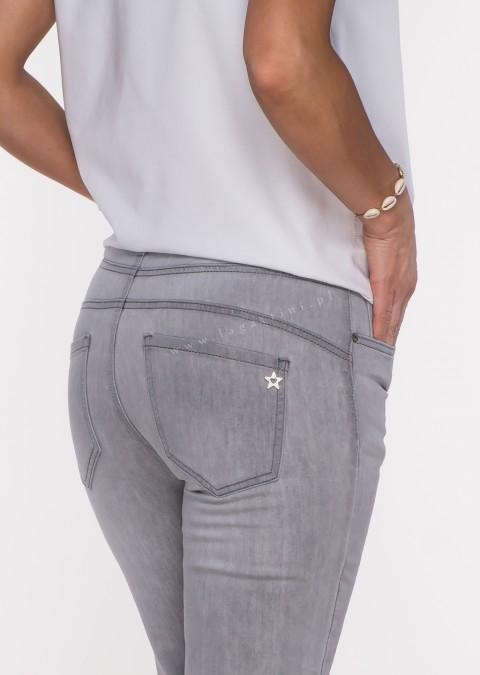 Włoskie jeansy WENDY PUSH UP szare