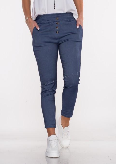 Włoskie spodnie JELLY guziki denim