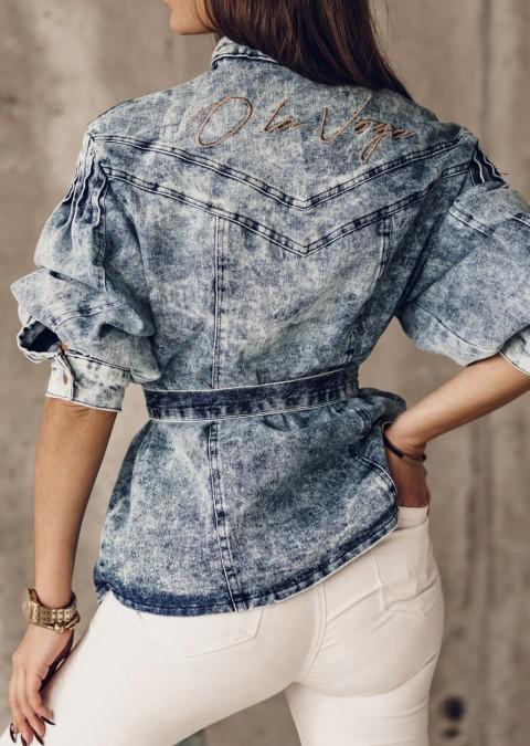 Koszula jeansowa O'la Voga DENIM SHIRT niebieska
