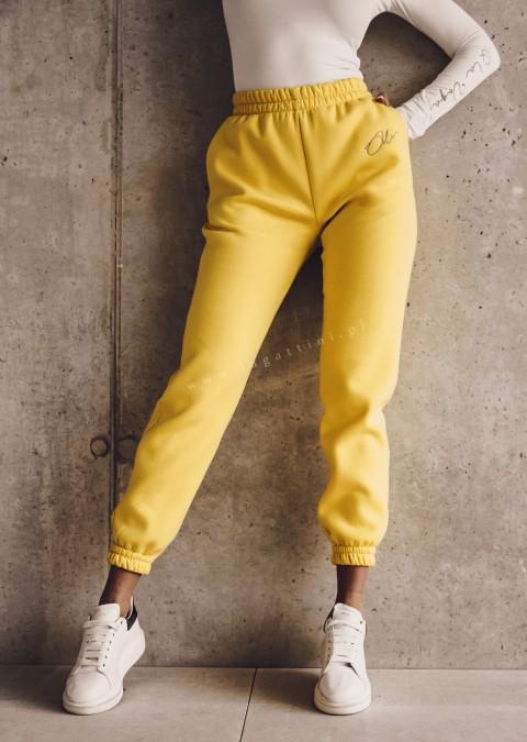 Spodnie dresowe O'la Voga SPORTY LOOK żółte
