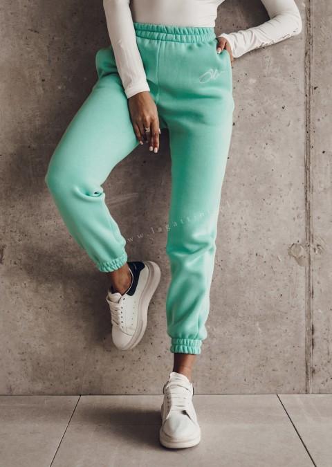 Spodnie dresowe O'la Voga SPORTY LOOK turkusowe