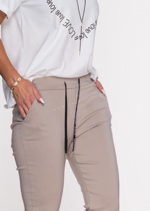 Włoskie spodnie CLASSIC logowany sznurek