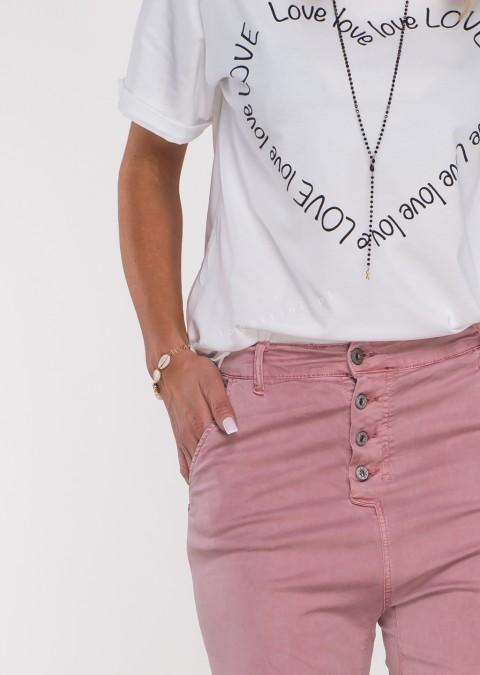 Włoskie spodnie BAGGY asymetryczne guziki