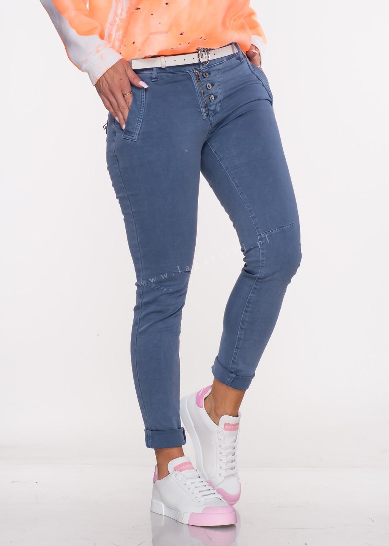 Włoskie jeansy LAGGIO ZAMEK&GUZIKI denim/26