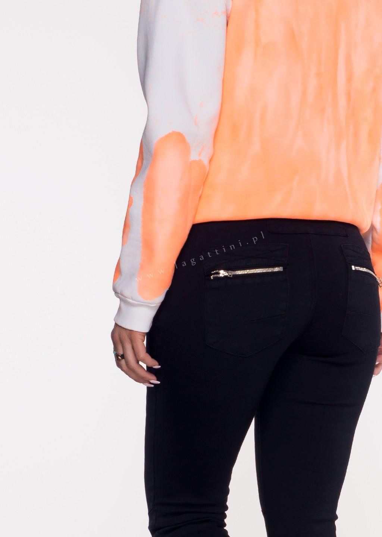 Włoskie jeansy LAGGIO ZAMEK&GUZIKI czarny