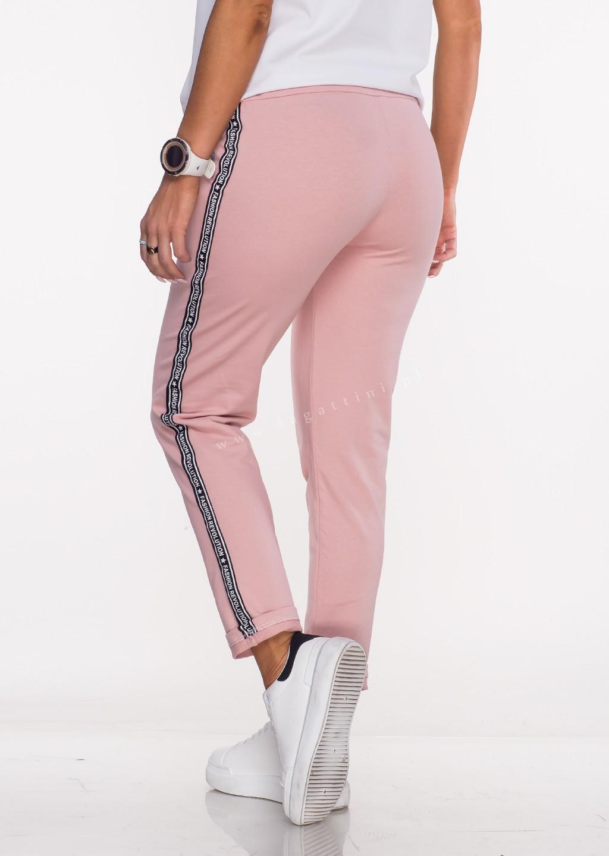 Włoskie spodnie dresowe SPORT REVOLUTION różowe
