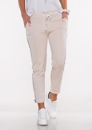Włoskie spodnie dresowe SPORT REVOLUTION beżowe