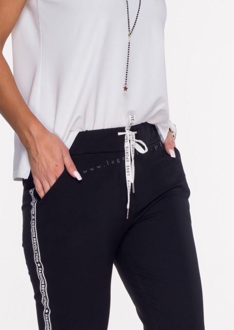 Włoskie spodnie dresowe SPORT REVOLUTION czarny