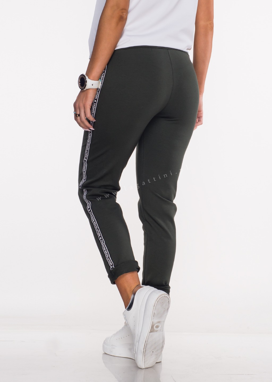 Włoskie spodnie dresowe SPORT REVOLUTION khaki